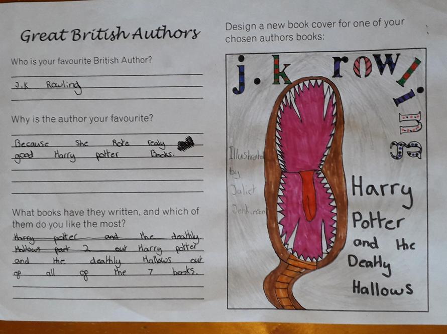 Juliet's favourite author