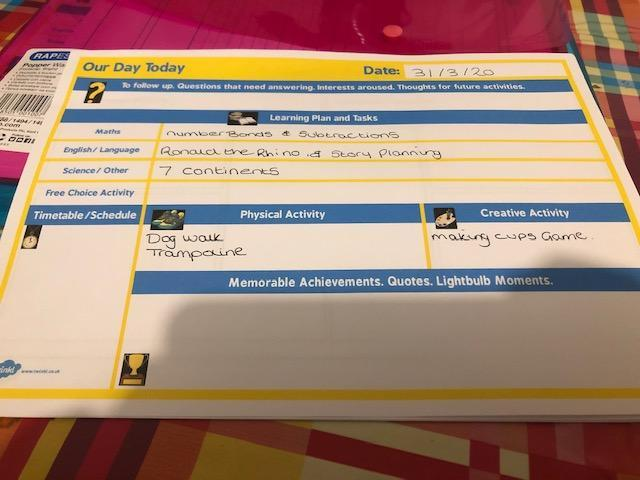 Kai's timetable