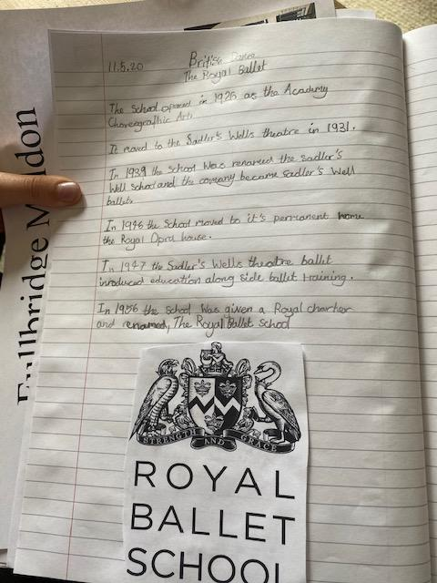 Erin's Royal Ballet School information