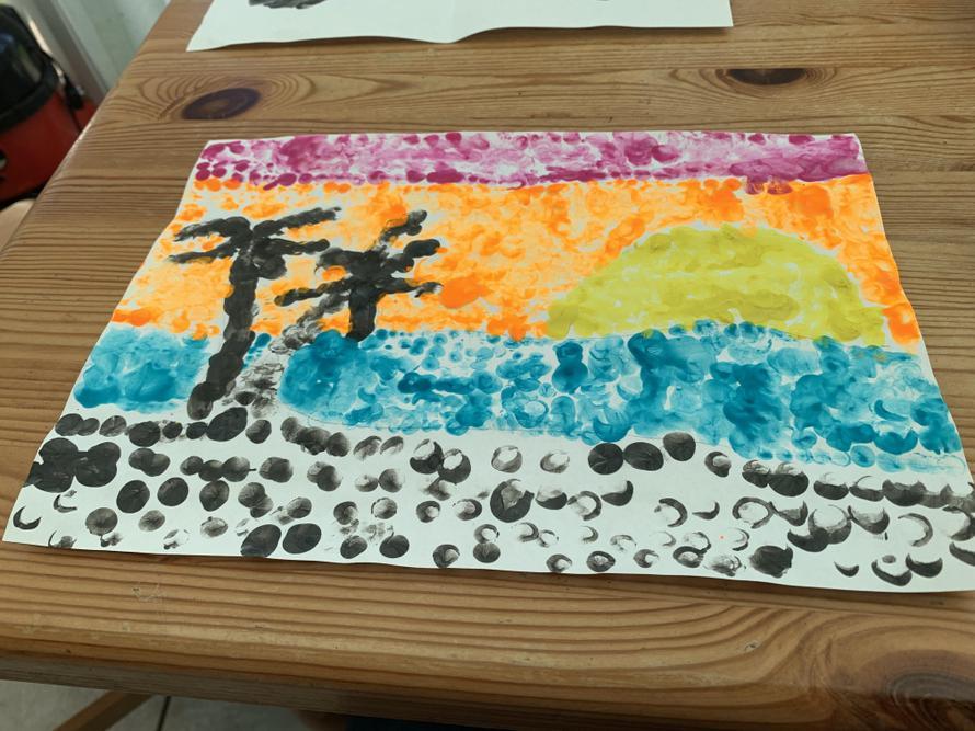 George Seurat inspired art by Mason