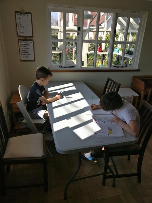 Working hard in home school