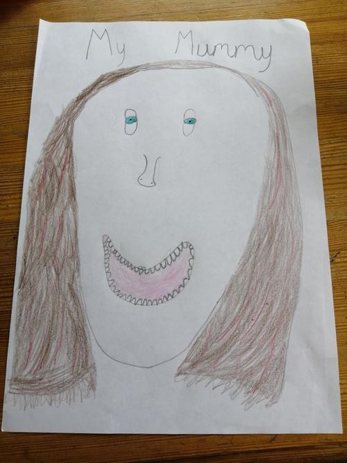 Emily's portrait of her mum