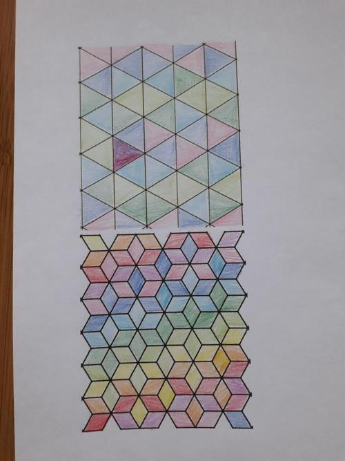 Juliet's tesselating work