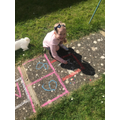 Hopscotch to help with maths.