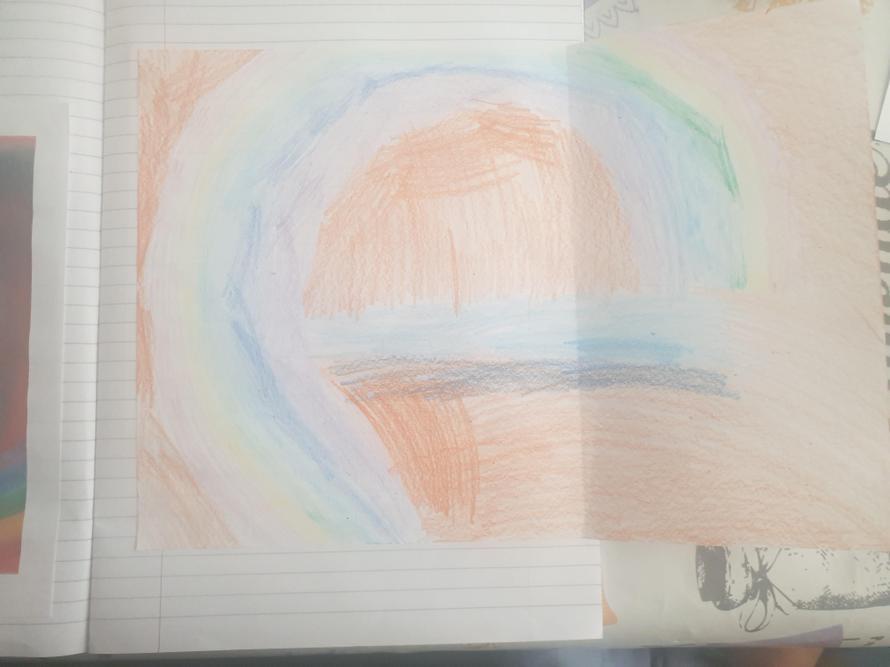 Norman Adams Rainbow inspired art by James