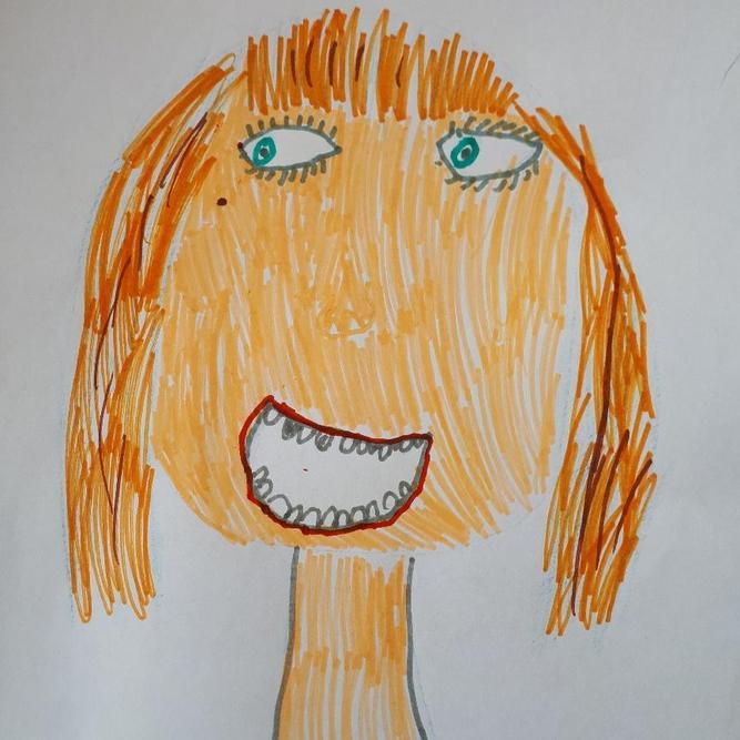 Zoe's recreation of a self portrait
