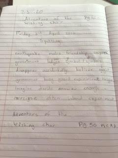 Kayleigh's spelling work