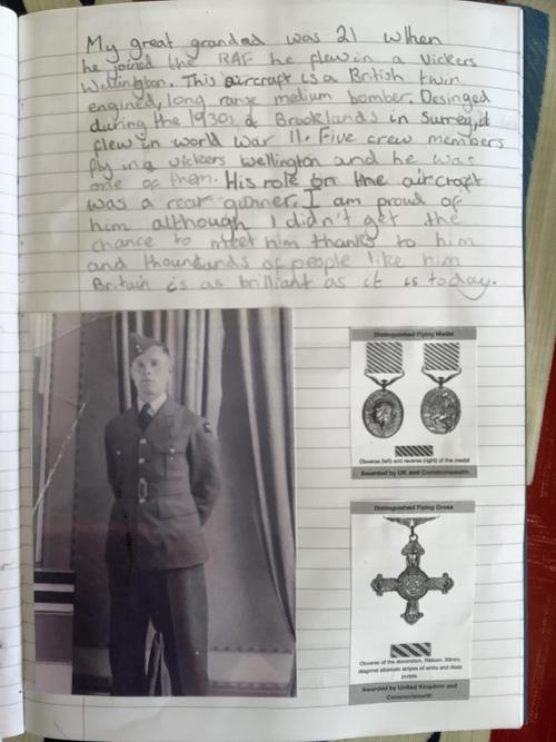 Norah's Great Grandad the RAF pilot
