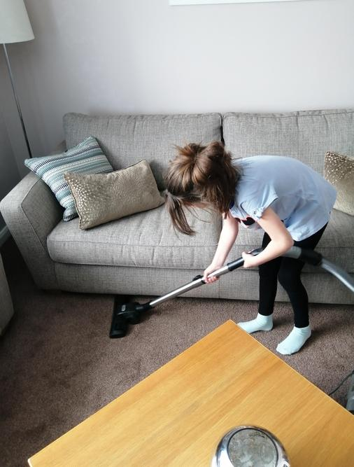Well done for helping with the chores