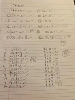 Esma's maths work