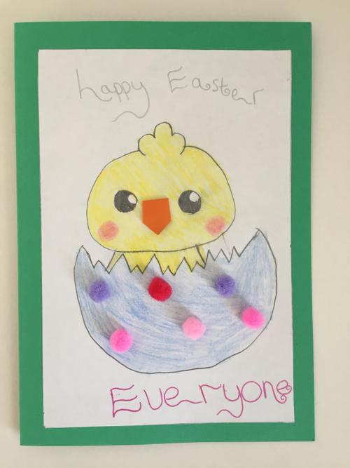 Norah's lovely Easter card