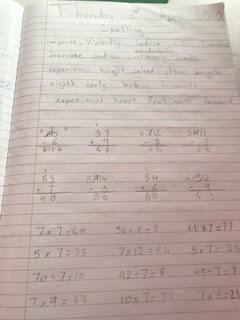 Kayleigh's maths work