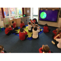 We enjoyed learning about our world through cosmic yoga!