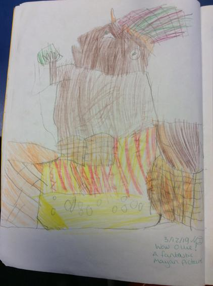 We made a picture of a Mayan.