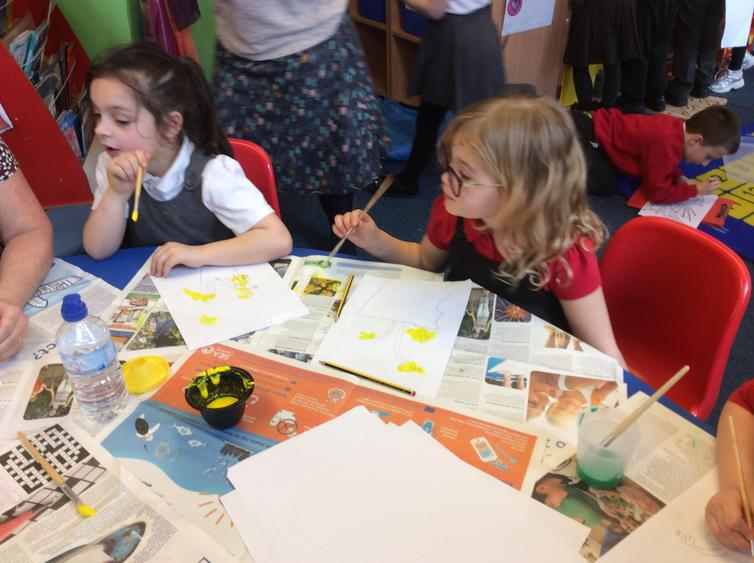 We painted daffodils for St David's day.