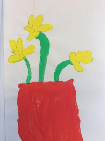 Our daffodil paintings.