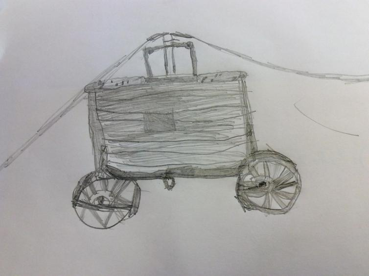 We researched and drew the first fire engine.
