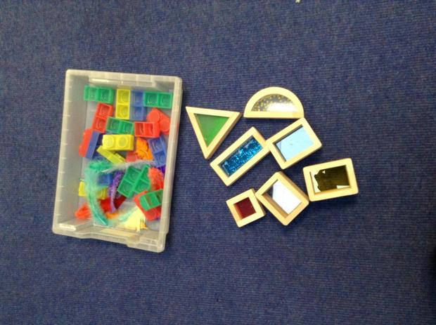 Building with sensory toys
