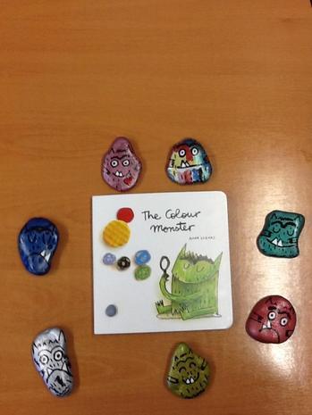 We enjoyed using the story stones to help us.