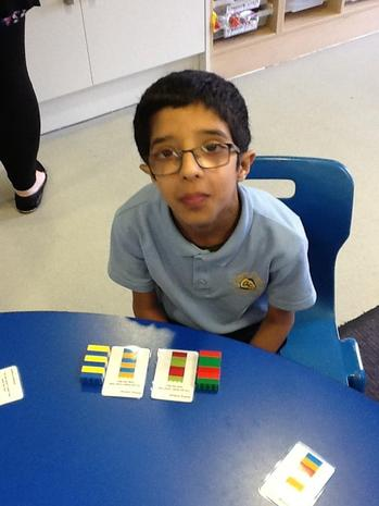 using lego in fine motor to match patterns