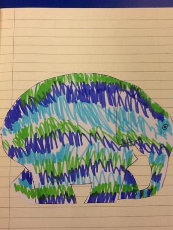 We Designed our own elephants after we read Elmer.