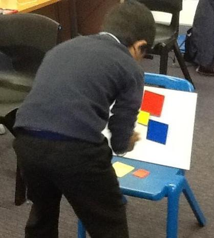 We had to find the shapes and put them in the right order.