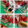 Our task today was to design and make one of the 4 bridges in teams.
