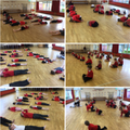 A great way to start our Monday. A yoga class!