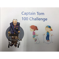 As a school we raised over £120 for the Captain Tom Challenge!