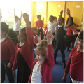 The children had an excellent time at their drama workshop yesterday.