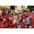 We loved dressing up as superheroes for Red Nose Day!!