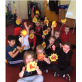 We made fantastic sun catchers today it was sunny 😎 fun