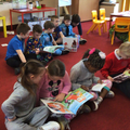 As part of world book 📖 day we have stopped and are now reading.