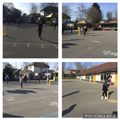 Lovely cricket lesson in the sunshine this morning.