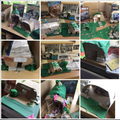 We are very proud of the Anderson shelters we made for pour WWII topic