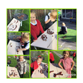 Having fun with conkers.