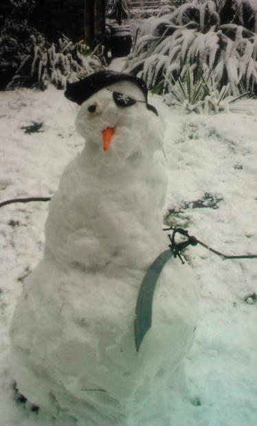 George's awesome snowman!