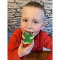 Thomas's biscuit decorating