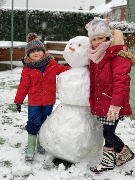 One of Willow's snowmen!