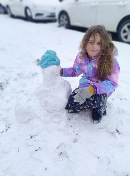How cute is Lily's snowman?