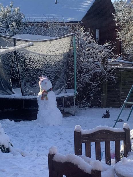 Freya's lovely snowman!