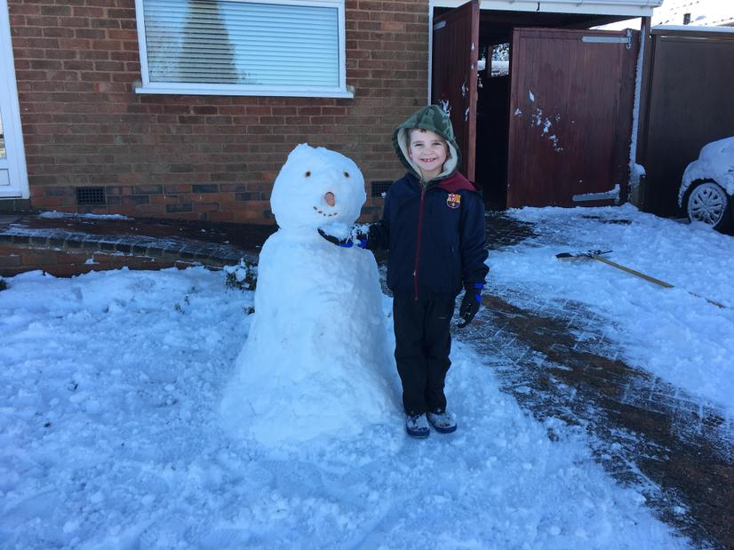 Hayden and Snowman 2