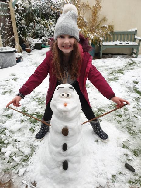 Ella made an Olaf!