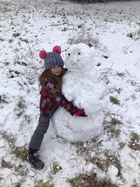Molly made this amazing snowman!