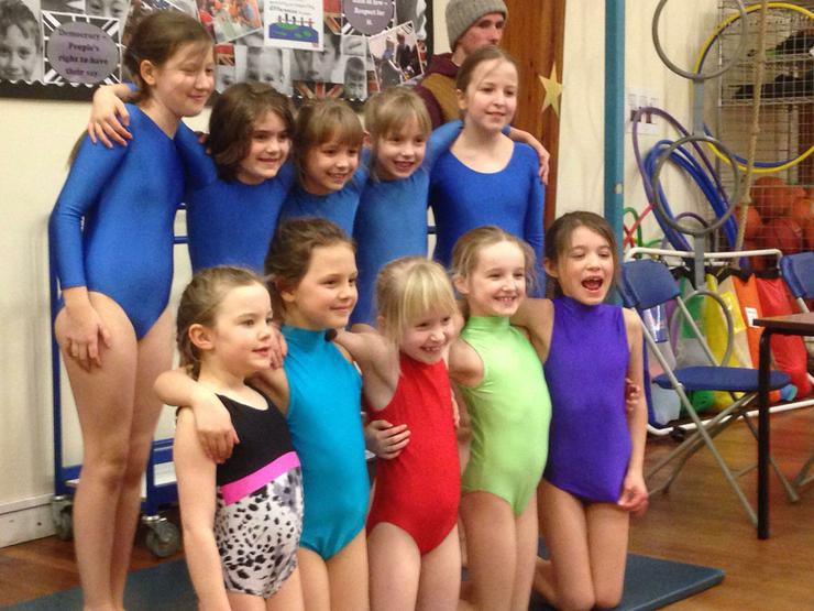 Gymnastics competition at Huntingtower School