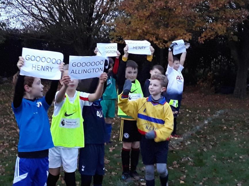 Loyal supporters Allington vs Buckminster