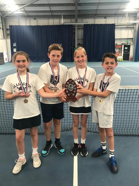 Tennis winners Year 5/6
