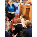 Mrs Ratcliffe reads the Christmas story