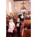 The children enter church
