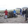 Collecting natural flotsam